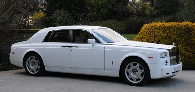 Hire Wedding Car White Rolls Royce Phantom